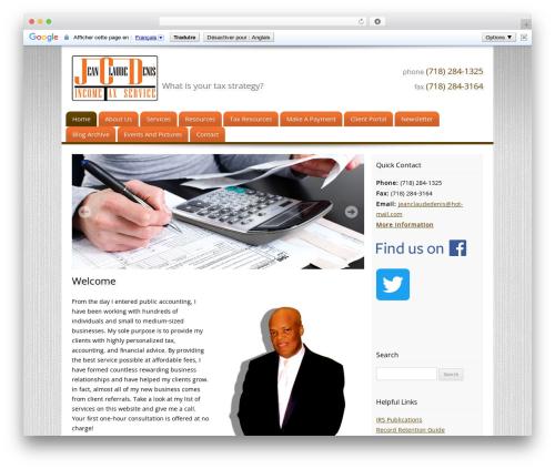 Customized WordPress website template - jeanclaudedenis.com