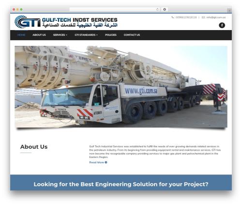 Enhenyerowp WordPress theme - gti.com.sa