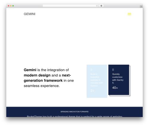 Gemini theme WordPress - debuggingbythinking.com