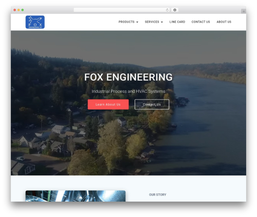 Materialis PRO WordPress theme - foxengineering.com