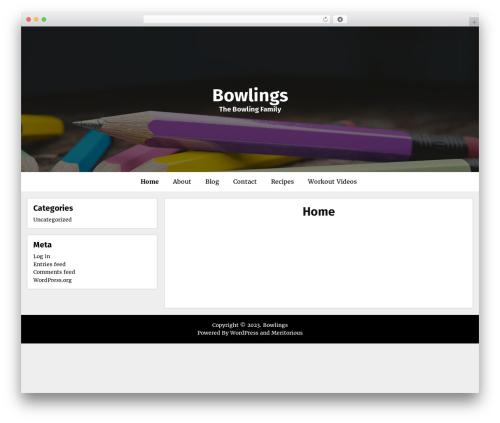 Meritorious WP theme - bowlings.org