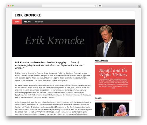 mh-child WordPress theme - erikkroncke.com