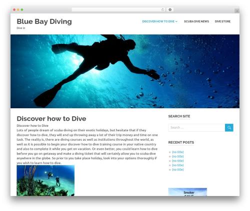 Poseidon best free WordPress theme - bluebaydiving.com