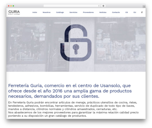 TM Moody best WordPress template - guria.eus