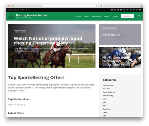 VegasHero Sports Betting Theme WordPress theme - bonusybukmacherskie.pl