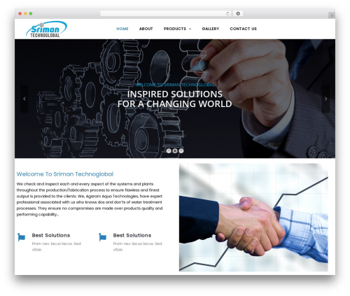 WordPress template TheBuilt - srimantech.com