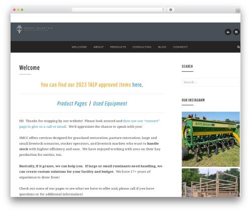 WordPress theme Anemone - smokymtncattle.com