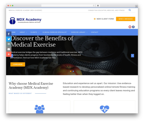 WordPress theme PhysioPlus - medex.fit