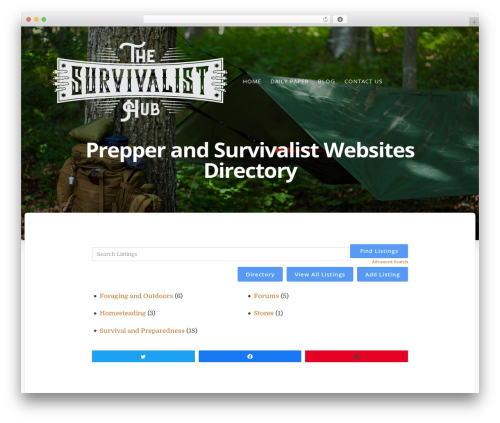 WP template Typit - thesurvivalisthub.com