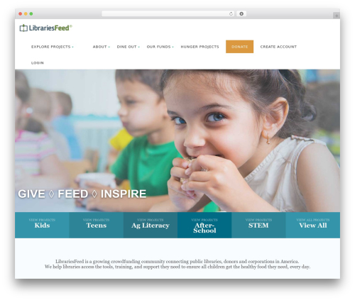 Best WordPress template Born To Give - librariesfeed.org