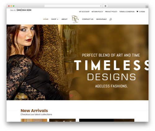 Divi fashion WordPress theme - prcitaly.com