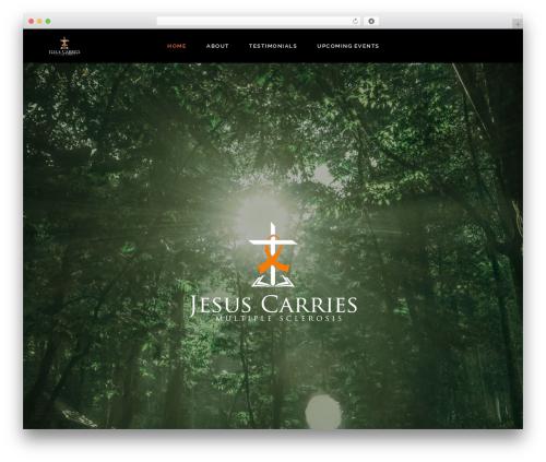 Dorian best WordPress template - jesuscarries.com