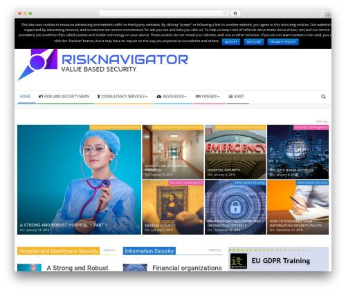 Magazine Hoot Premium top WordPress theme - risknavigator.net