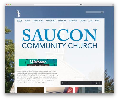 Sharefaith Church Website Template WP theme - sauconbfc.org