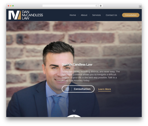 Template WordPress Lawyer by Osetin - danmccandlesslaw.com