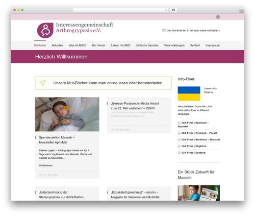 Welfare top WordPress theme - arthrogryposis.de
