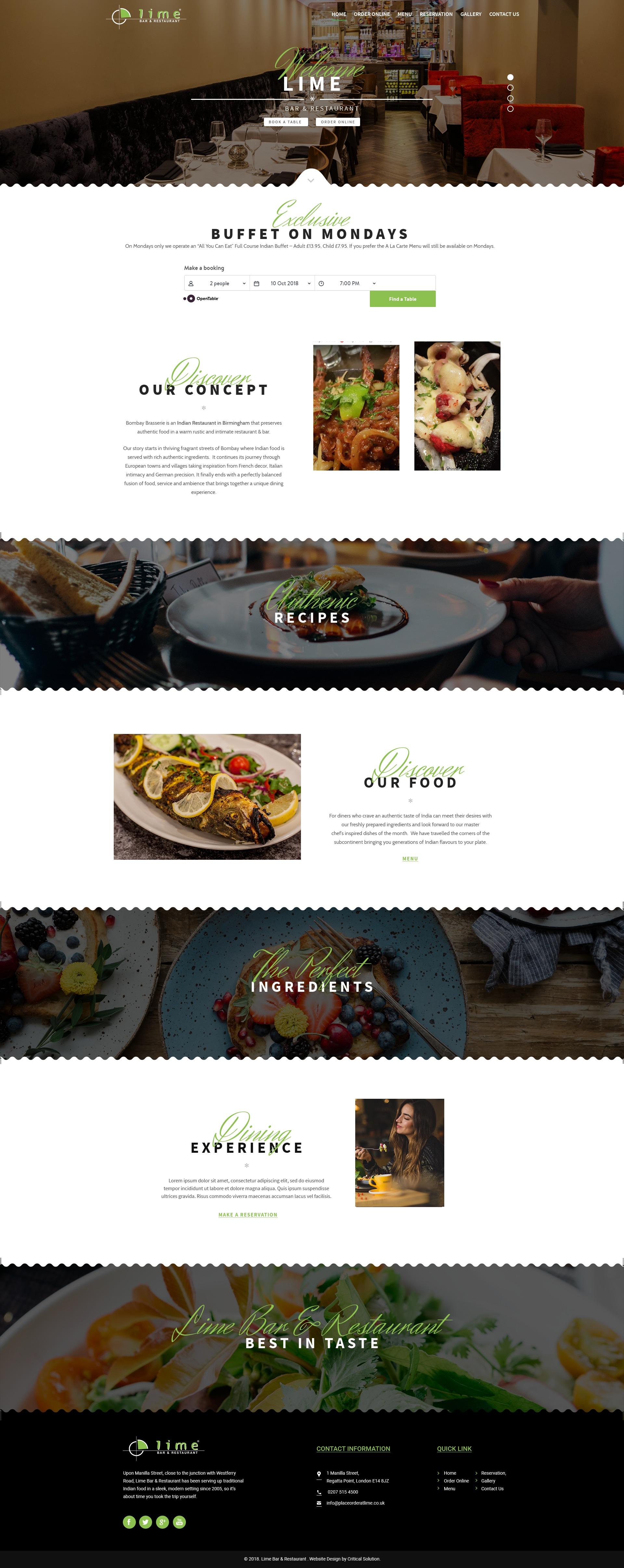 WordPress template Lime */