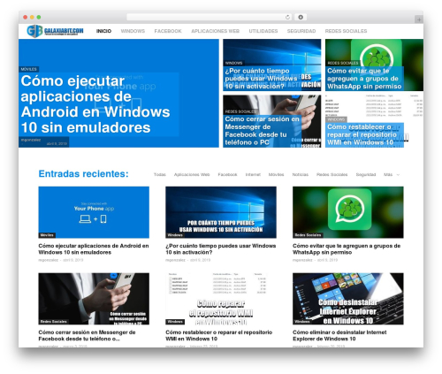 WordPress template Newspaper - galaxiabit.com