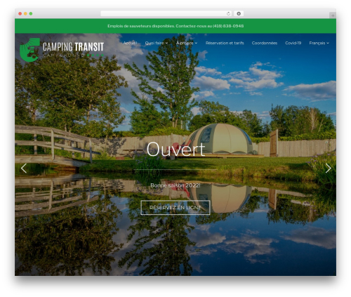 WordPress website template Inspiro - campingtransit.com