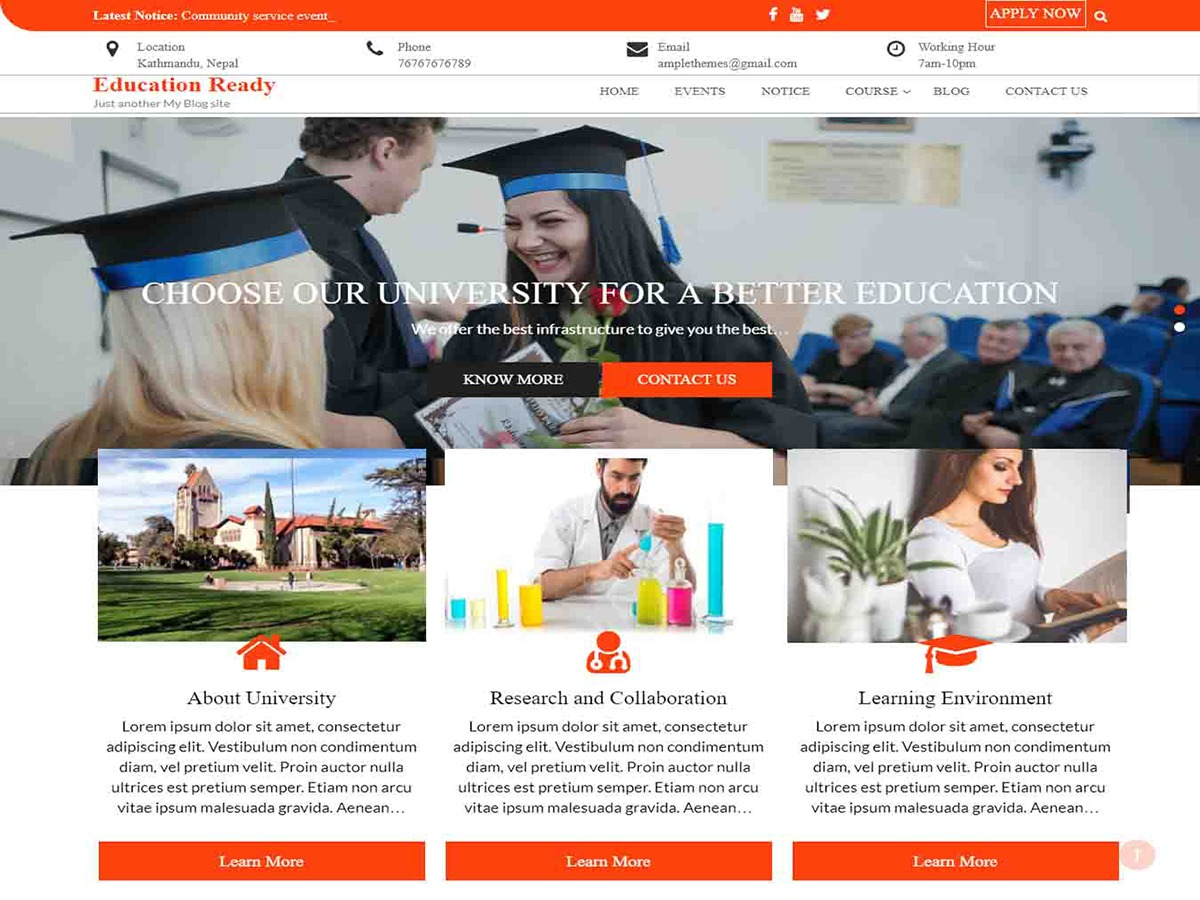 Education Ready WordPress blog theme