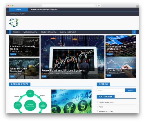 Eggnews free WordPress theme - justnick.tk