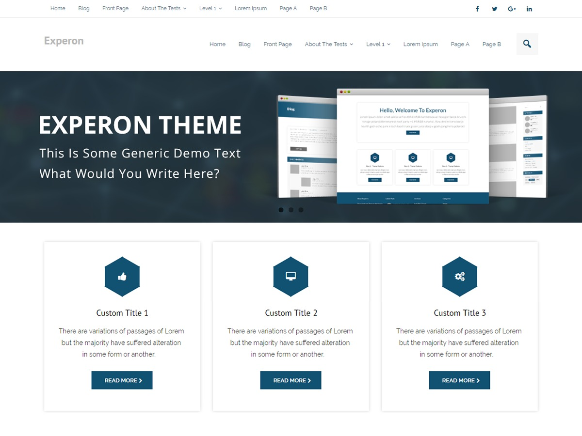 Experon Business WordPress template for business