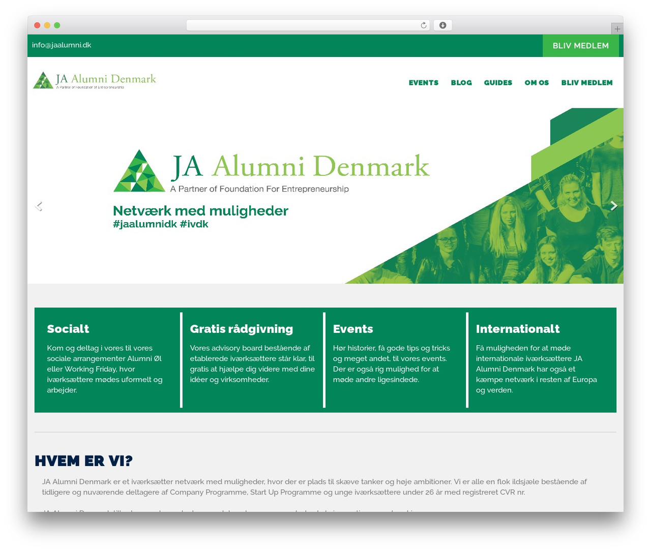 Institution WordPress theme - jaalumni.dk