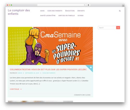 Kidzoo Lite free WordPress theme - le-comptoir-des-enfants.com
