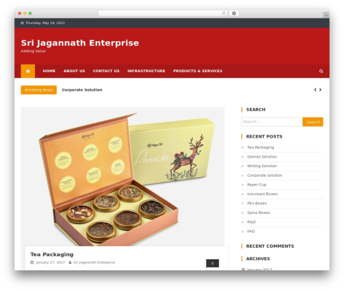 News Vibrant best WordPress magazine theme - sri-jagannath-enterprise.com