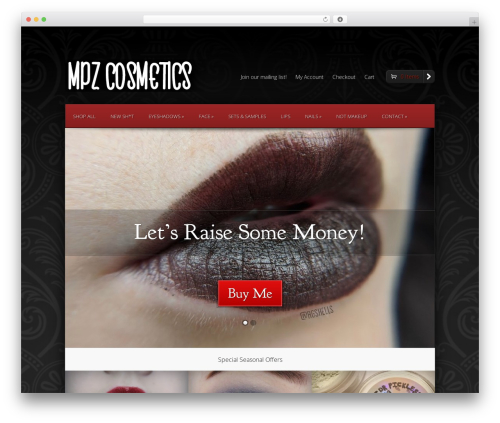 StyleShop WordPress shopping theme - myprettyzombie.com