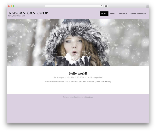 Unos WordPress website template - keeganmcgee.com