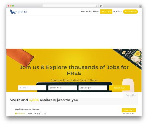 WordPress theme NOO JobMonster - sparrowjob.com