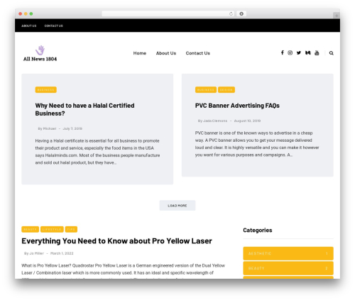 WordPress theme Saxon - allnews1804.com