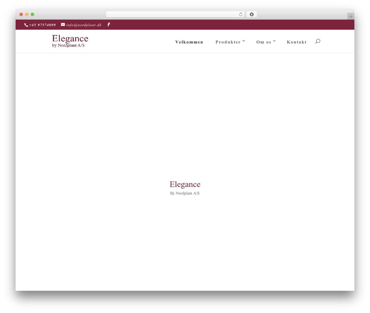 WordPress website template Divi - nordplant.dk