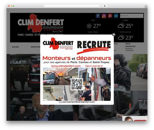 Best WordPress template Corporate - climdenfert.com