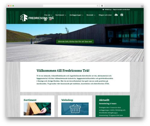 Best WordPress template Divi - fredricsons.com
