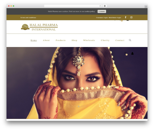 Best WordPress theme Aviana - halal-pharma.com