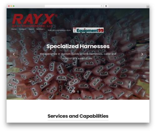 Businessx free WP theme - rayxengineering.com