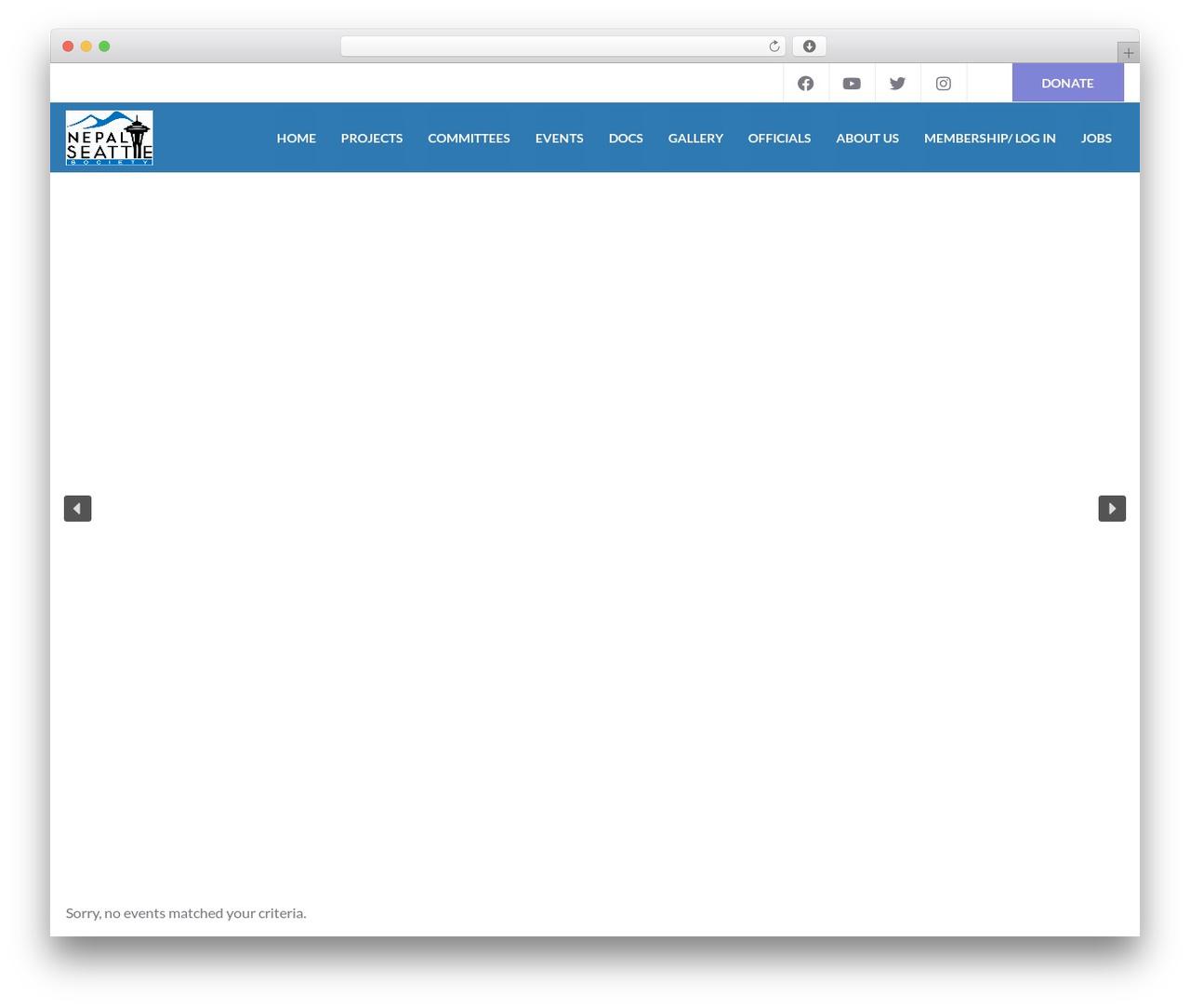 Charity WPL WordPress theme design - nepalseattle.org