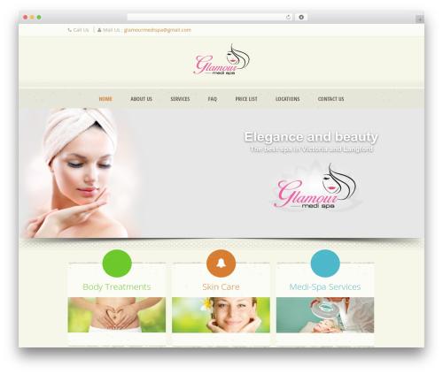 Dream Spa WordPress theme design - glamourmedispa.ca