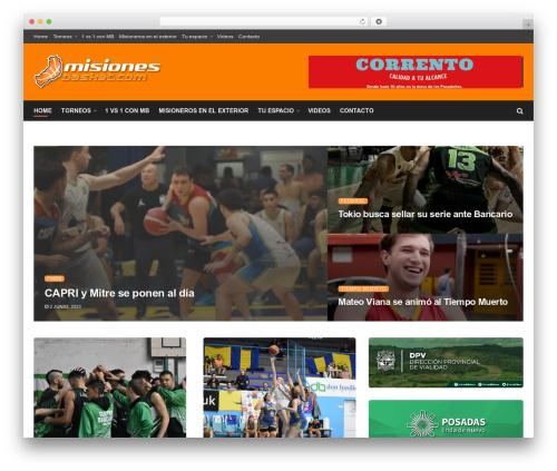 JNews WordPress news template - misionesbasket.com