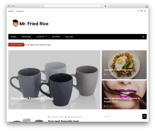 Kathmag WordPress shopping theme - mrfriedrice.com