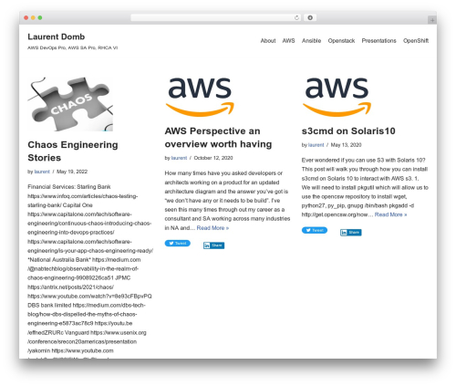 neve best WordPress template - domb.com