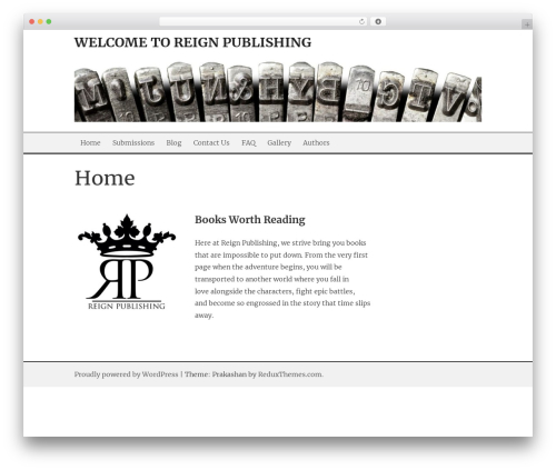 Prakashan free WordPress theme - reignpublishing.com