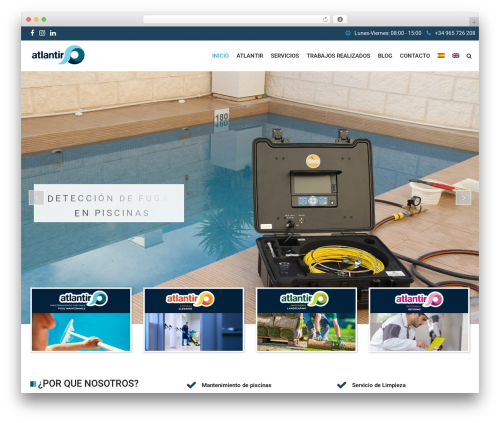 SwimmingPool WordPress theme - atlantir.com