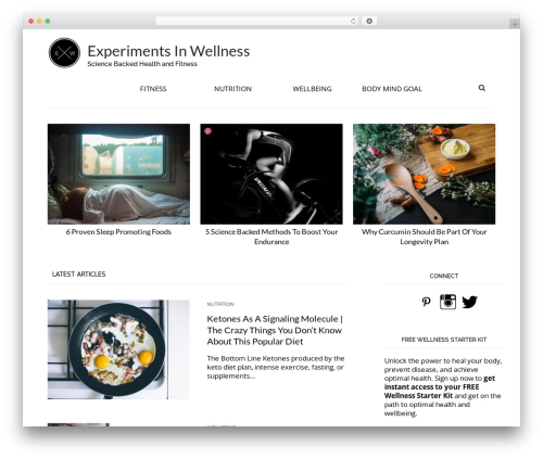 Template WordPress Arouse Pro - experimentsinwellness.com