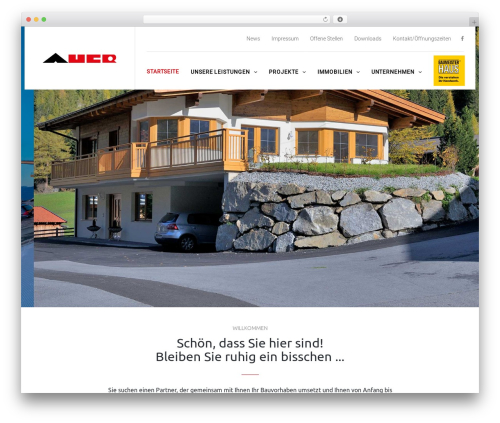 TheBuilt WordPress theme - auerbau.net