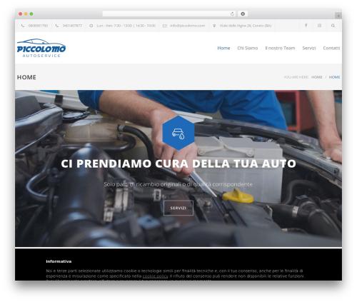Best WordPress template Carservice - piccolomo.com