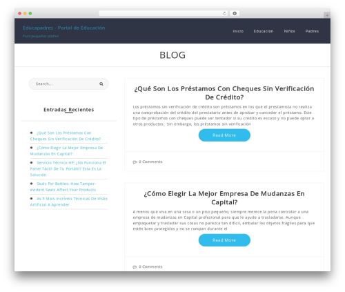 Best WordPress template Romana - educapadres.com