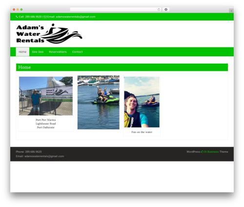 Business Green WordPress theme - adamswaterrentals.com